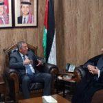 ممثل مكتب المرجع الشيرازي يلتقي السفير الاردني لدى العراق