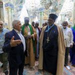 وفد متعدد الجنسيات من أوروبا الشرقية يتشرف بزيارة مرقد أمير المؤمنين عليه السلام