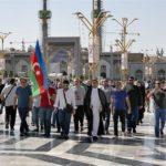 أكثر من 950 زائر أذربيجاني تشرفوا بزيارة الحرم الرضوي المطهر