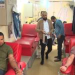 اطلاق حملة امام الحياة للتبرع بالدم بمناسبة ذكرى مولد الامام الحسين عليه السلام عند مرقد الطاهر