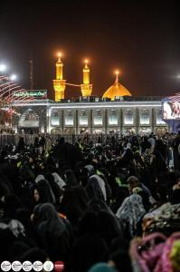 Lady Um AlBaneen demise ceremonies in holy Karbala